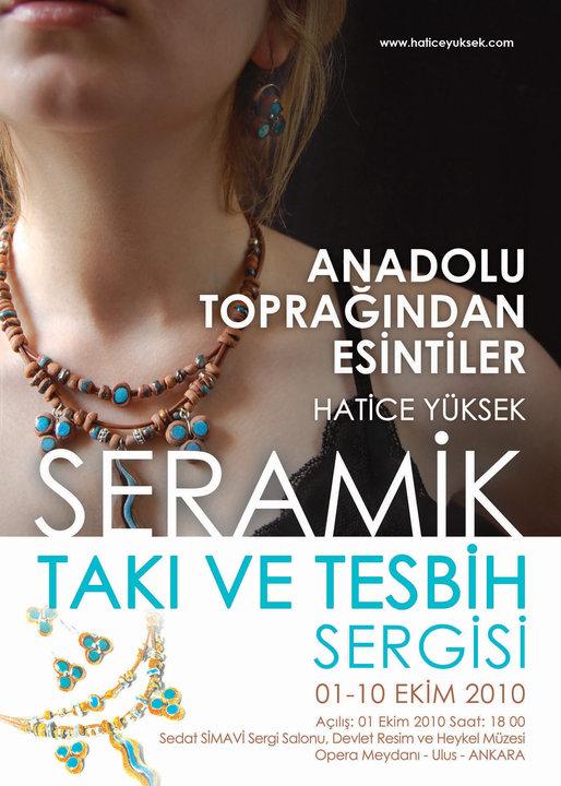 """""""Anadolu Toprağından Esintiler"""" Seramik Takı ve Tesbih Sergisi"""