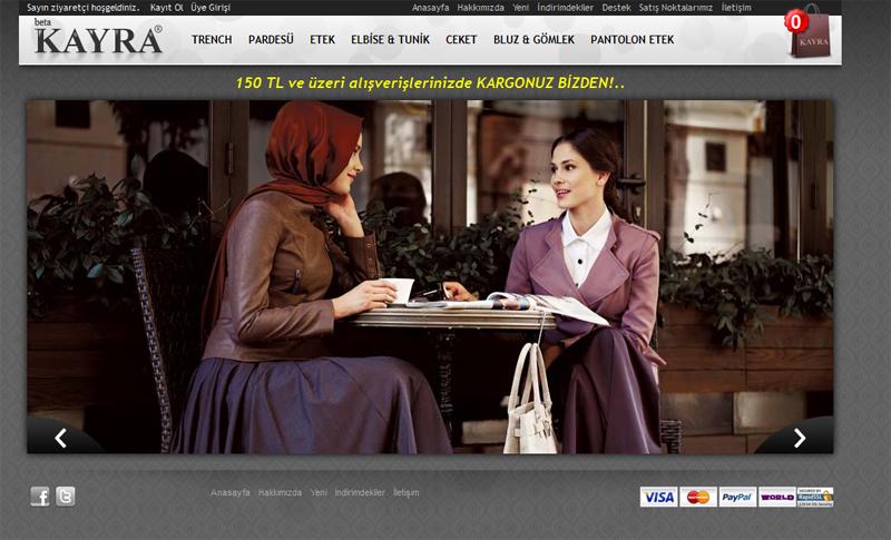 Kayra Giyim'in Beklenen Online Satış Sitesi KAYRA SHOP Açıldı!