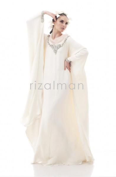 Rizalman İbrahim 2012 tesettürlü gelinlik modelleri