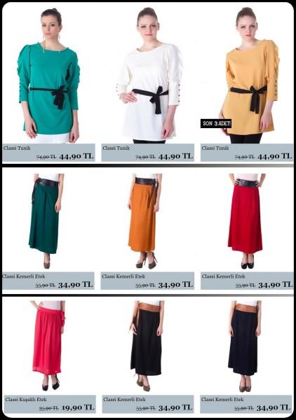 Tesett�r Tunik ve Etek Modelleri 2012