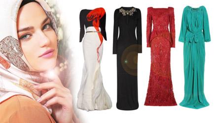 Tesettür Abiye Elbise Modelleri 2012-2013