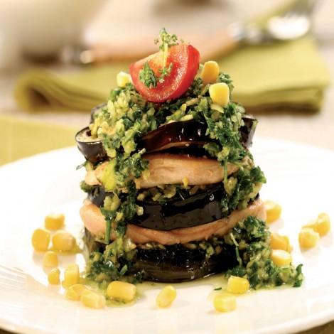 tavuklu patlıcan kulesi
