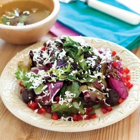 zeytinyağlı ege otları salatası