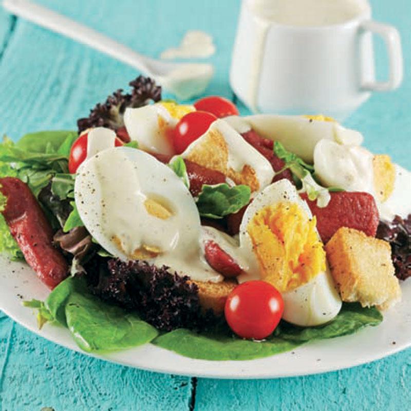 yumurtalı sosisli salata