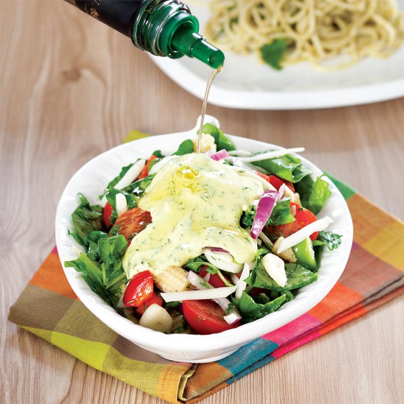 hardal soslu karışık salata