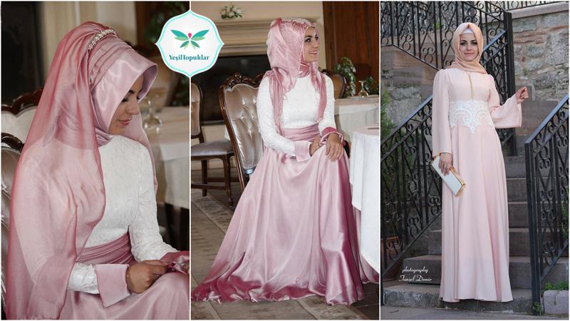 Pınar Şems 2013 İlkbahar-Yaz Tesettür Abiye Elbise Modelleri