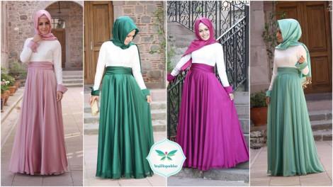 Pınar Şems 2013 İlkbahar-Yaz Tesettür Abiye Elbise Modelleri  (2)