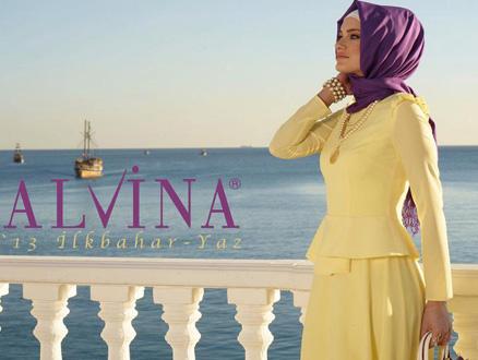 Alvina 2013 İlkbahar-Yaz Tesettür Giyim Modelleri