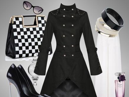 Günün Tesettür Giyim Kombini, Zıt Renkler Siyah ve Beyaz!
