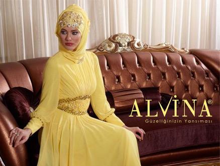 Alvina 2013 Tesettür Abiye Elbise Modelleri
