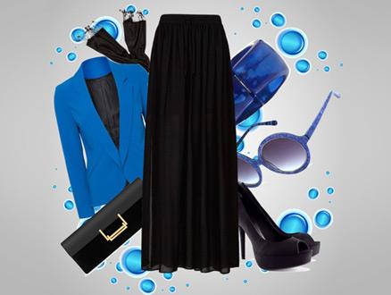 Siyahı Sevdiren Mavi ve Rüya Gibi Bir Kombin