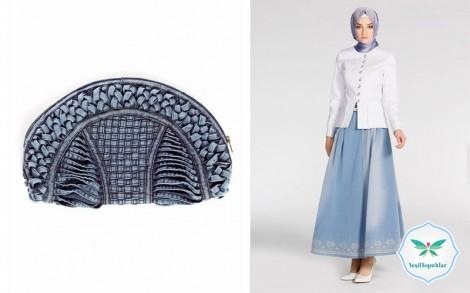 Tesettür Giyim Kot Elbise Kot Pardesü Modelleri