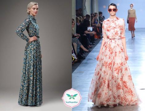Tesettür Uzun Elbise Modelleri 2013