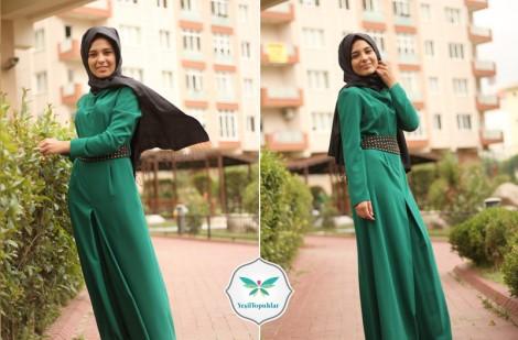 Mağaza Kadınca Yeşil Abiye Elbise