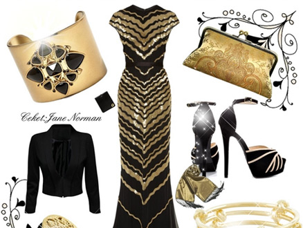 Neoklasik Stil Bir Elbise Kombini