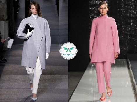 2013 - 2014 Sonbahar Kış Trendleri Pastel Renkli Paltolar