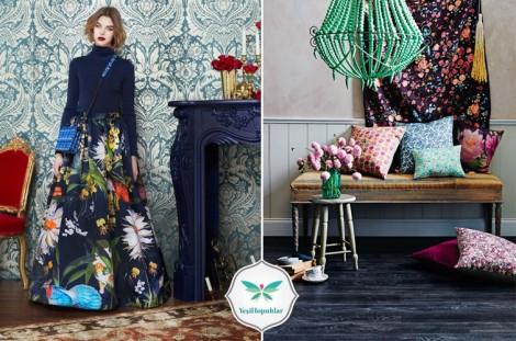 Floral Desenli Uzun Etek Modelleri