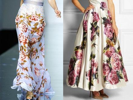 Floral Desenli Uzun Eteklerle Çiçek Açalım!