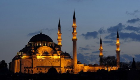 Süleymaniye Camii'nin Gece Görüntüsü