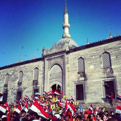 Türkiye'den Mısır Darbesine Karşı Yapılan Protestolar