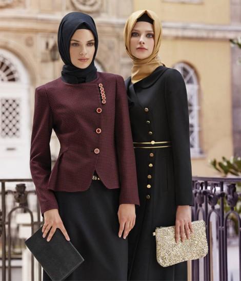 Tesettür Giyim Etek Ceket Modelleri 2014