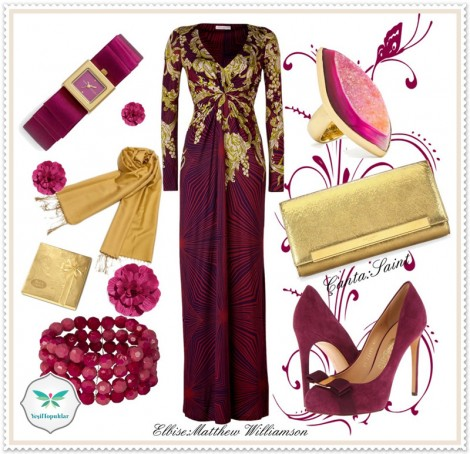 Abiye Elbise Kombinlerinden Floral Esintiler