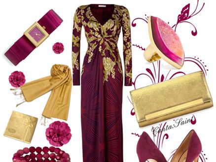Abiye Elbise Kombinlerinde Floral Esintiler