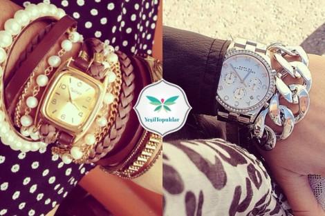 2014 Zincir Bileklik ve Saat Modelleri