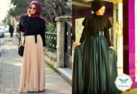 Tesettür Giyim Bayramlık Kıyafet Modelleri 2013 3014