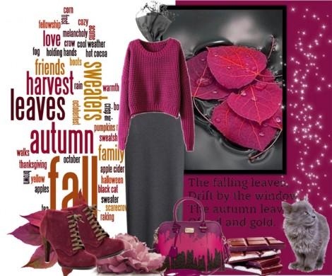 Tesettür Giyim Kombinleri Bordo Renkli Elbise Modelleri