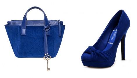 Kobalt Mavisi Ayakkabı ve Çanta Modelleri