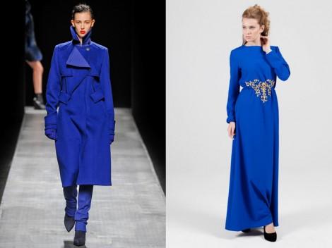 Kobalt Mavisi Dış Giyim ve Abiye Modelleri
