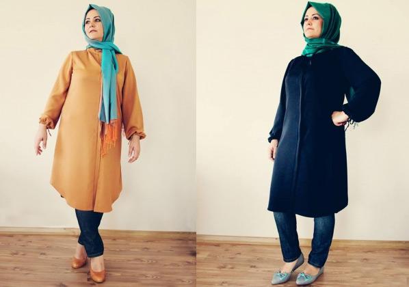 Büyük Beden Tesettür Giyim Modelleri 2014