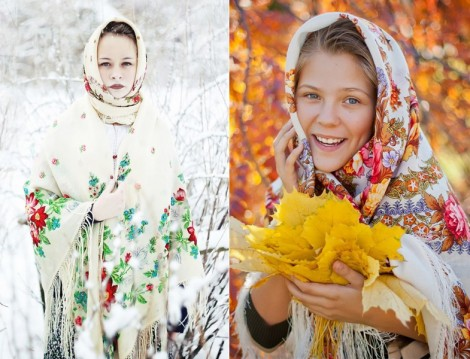 Floral Desenli Şal Modelleri