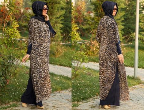 Tesettür Giyim Uzun Tunik modelleri 2014