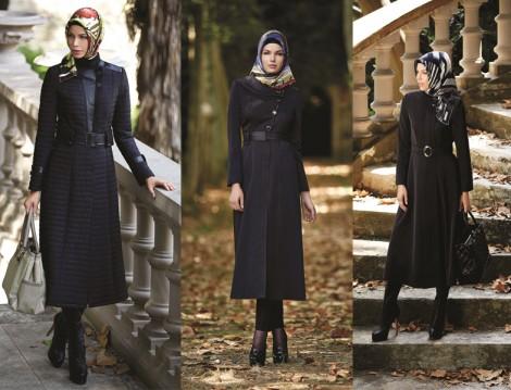 Tesettür Kaban Palto ve Kap Modelleri 2014 Zühre Tesettür