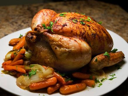 Özel Bir Sosla Bütün Tavuk Tarifi