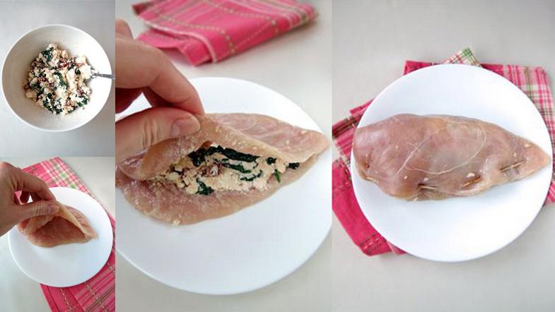 Ispanaklı Peynirli Tavuk PoğaçaTarifi