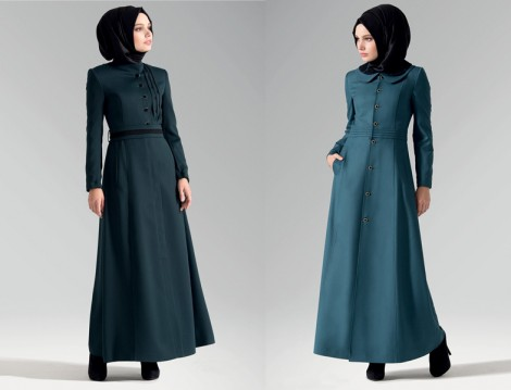 Tesettür Giyim 2014 Pardesü ve Kaban Modelleri