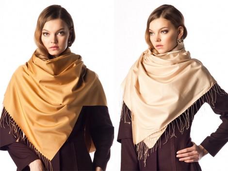 2014 Trendi Kahverengi Şal Modelleri