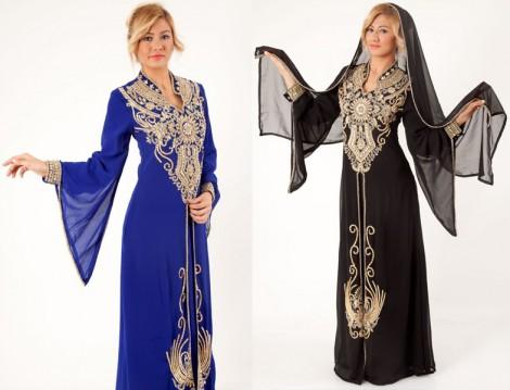 Tesettür Abiye Elbise ve Kaftan Modelleri 2014