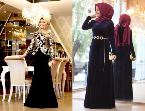 Tesettür Giyim Elbise Etek ve Abiye Modelleri 2014