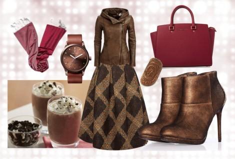 Tesettür Giyim Kombinleri 2014 Kahverengi Modası