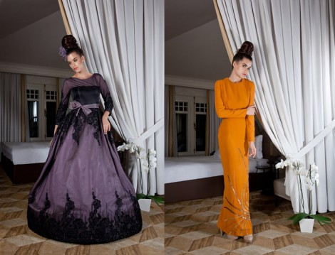 Bukra Couture 2014 Tesettür Abiye Elbise Modelleri