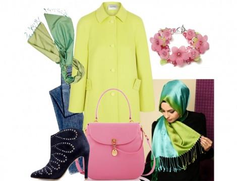 Tesettür Giyim Kombinleri 2014 İlkbahar Yaz