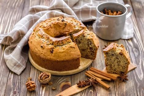 Kokusu Üzerinde Tarçınlı Kek Tarifi
