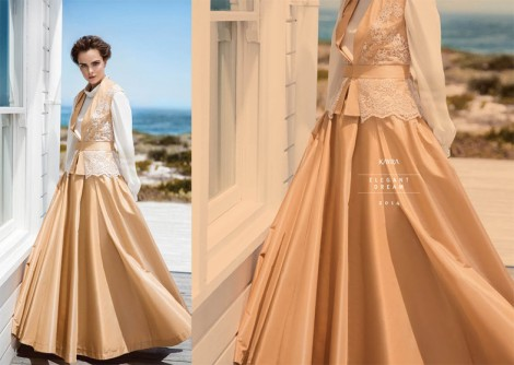 Tesettür Abiye Elbise Modelleri 2014