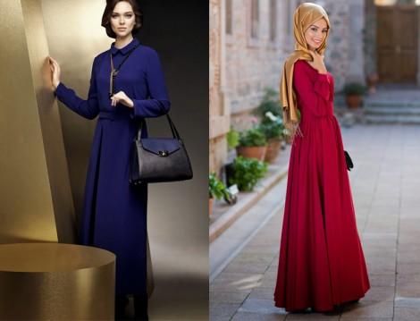 Günlük Uzun Elbise Modelleri 2014
