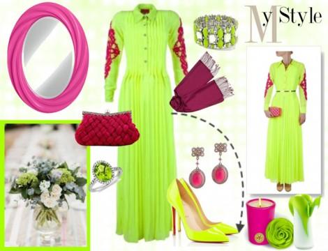 Neon Renkli Kıyafet Kombini