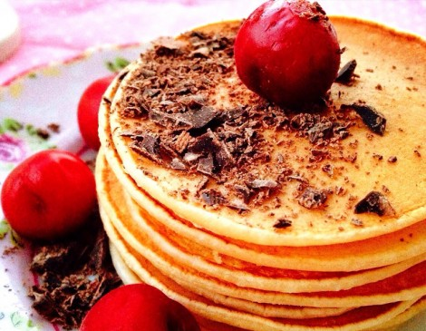 İster Kahvaltıda İster Beş Çayında Nefis Pankek Tarifi
